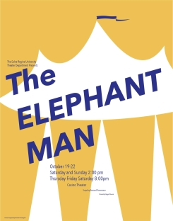 elephant man postcard
